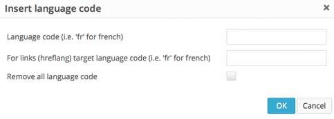 MCE accessible language