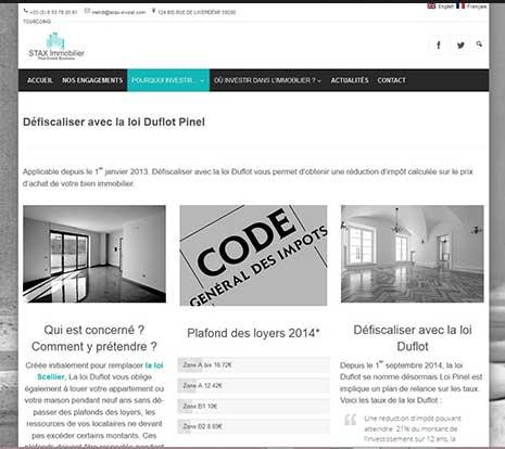 Creation site bilingue immobilier