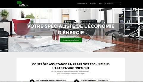creation site web environnement