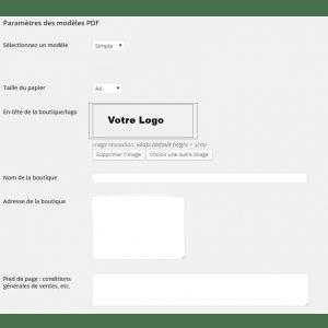 facture pdf woocomerce
