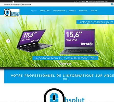 Site E-commerce informatique