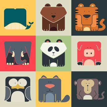 Les autres animaux du zoo Google