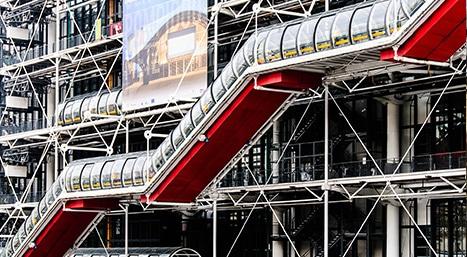 centre pompidou rue beaubourg