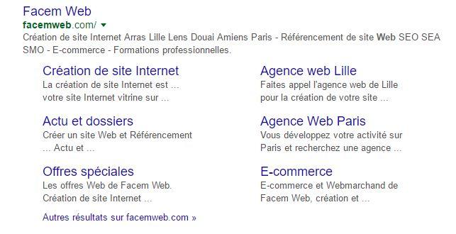 sitelinks de google en seo