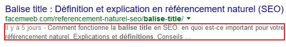 balise meta description exemple