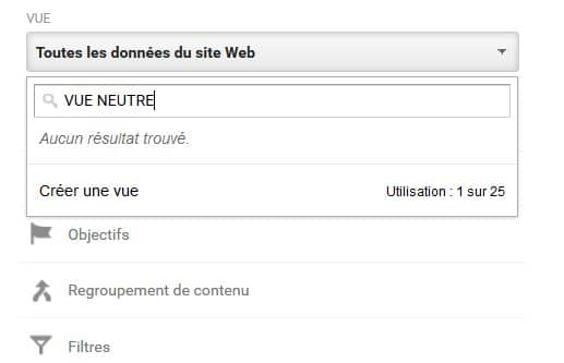 vue neutre google analytics