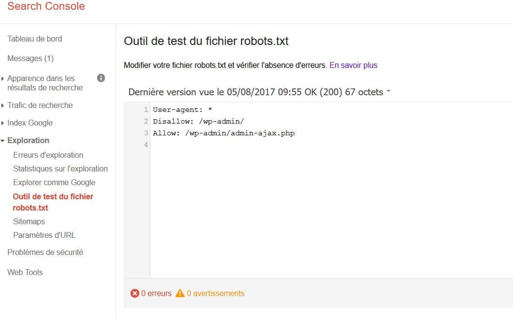 outil test fichier robot txt