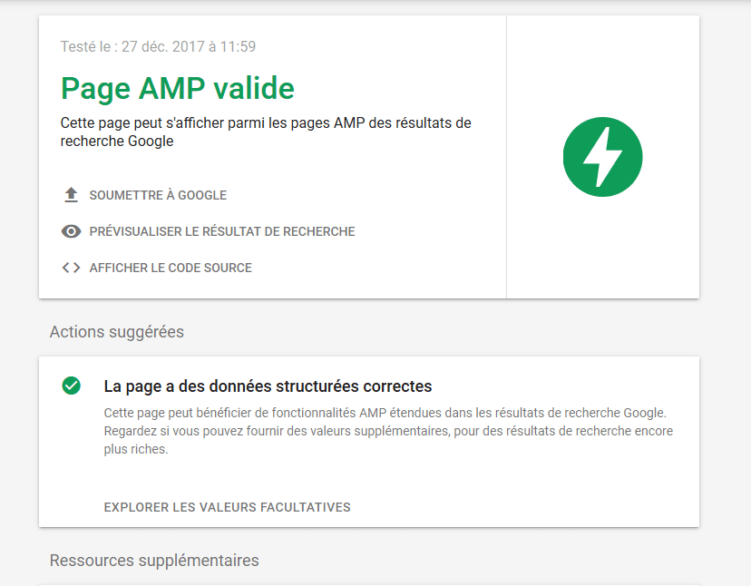 Test AMP
