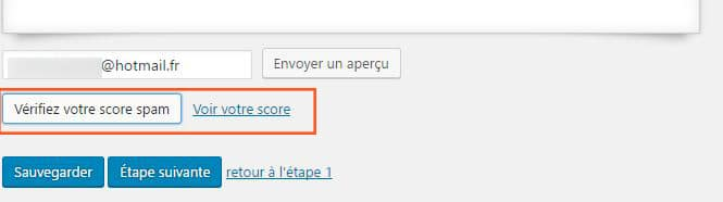 score spam mailpoet