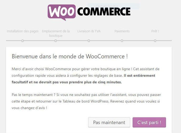 Configuration rapide du plugin WooCommerce pour WordPress