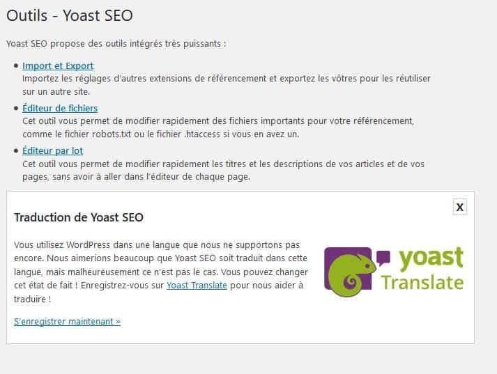 onglet outil yoast seo wordpress