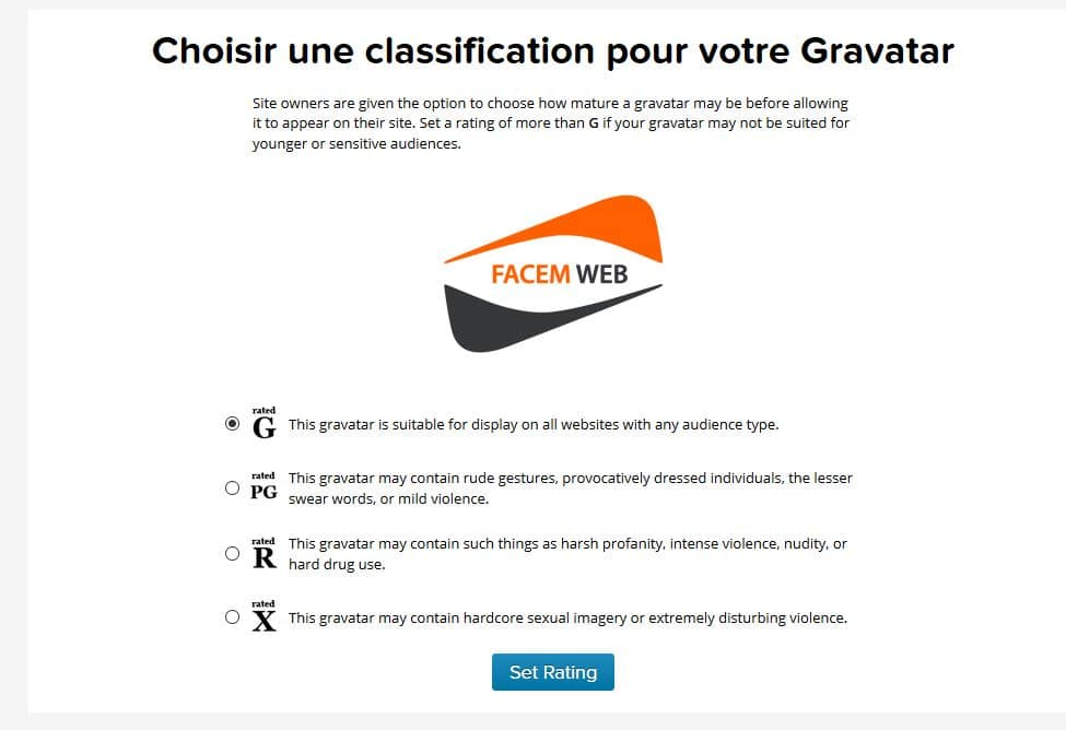 classification gravatar