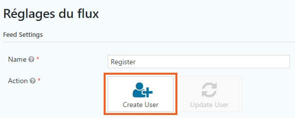 creer utilisateur login gravity form