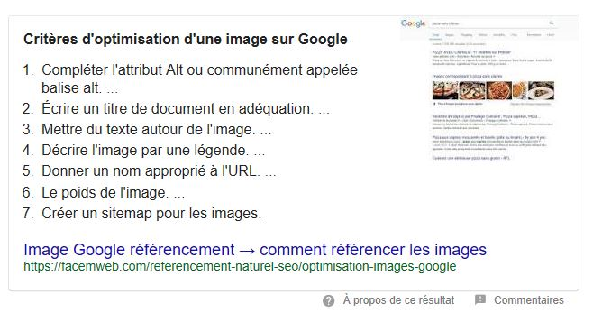 position zero et featured snippet