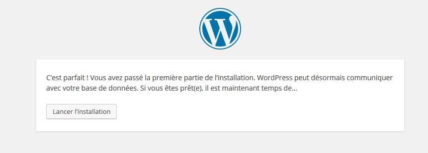 lancer installation wordpress
