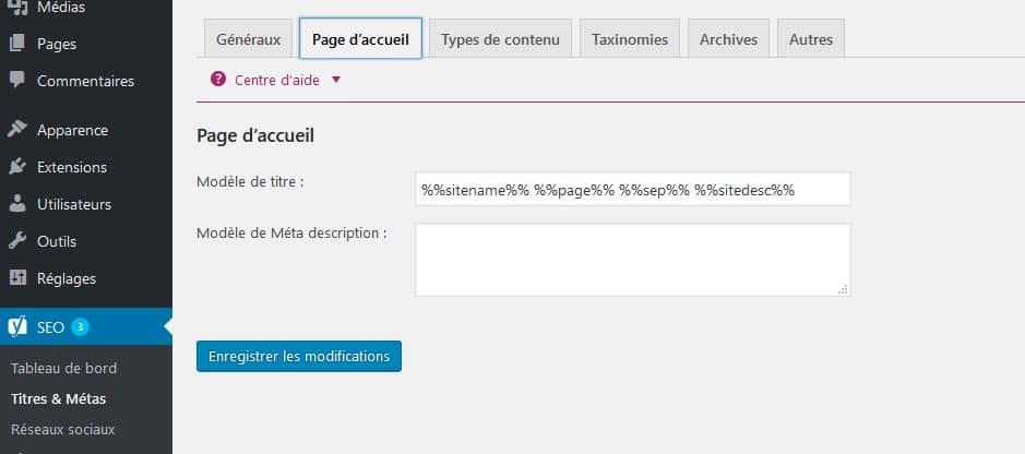 configurer titres et meta yoast seo wordpress