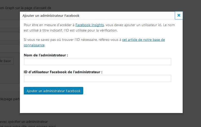 pop up administrateur facebook