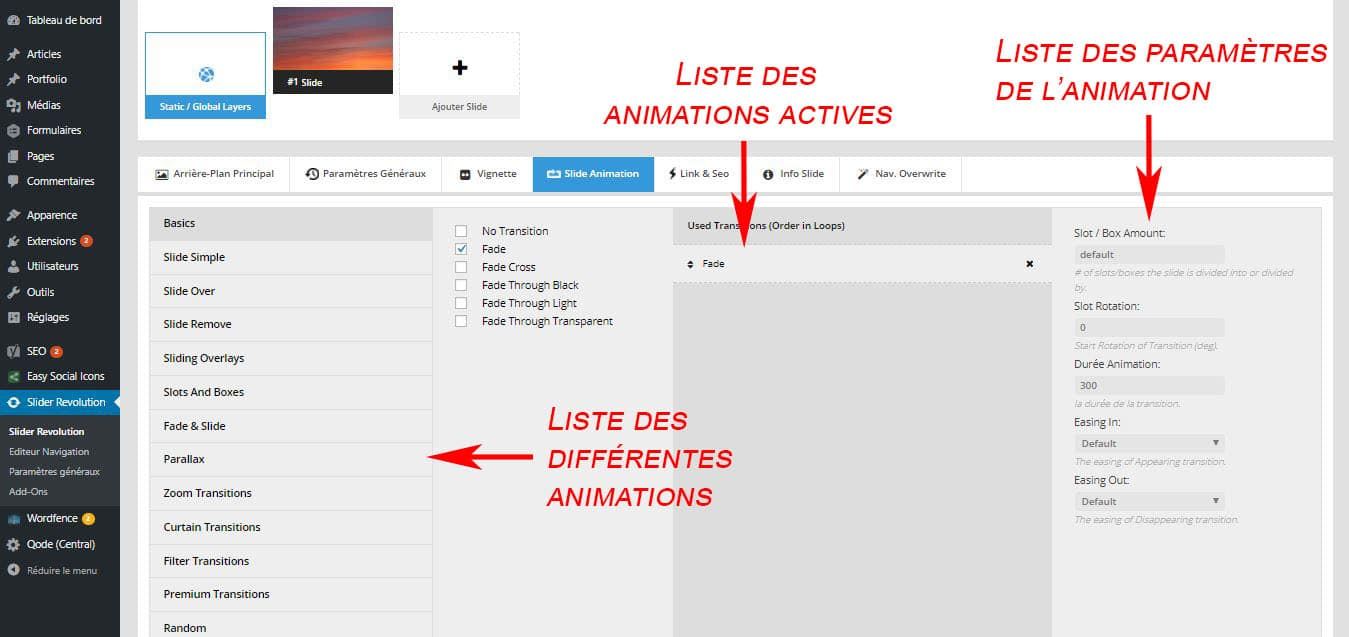 animation slide revolution slider