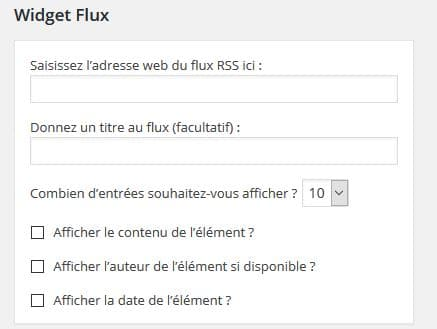 flux rss widget