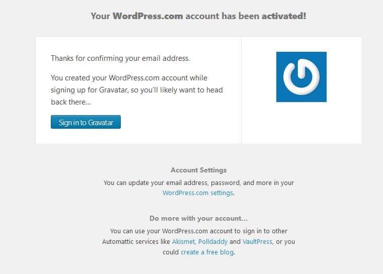 activer compte wordpress.com