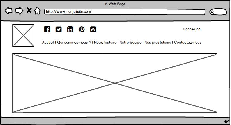 exemple de page standard web
