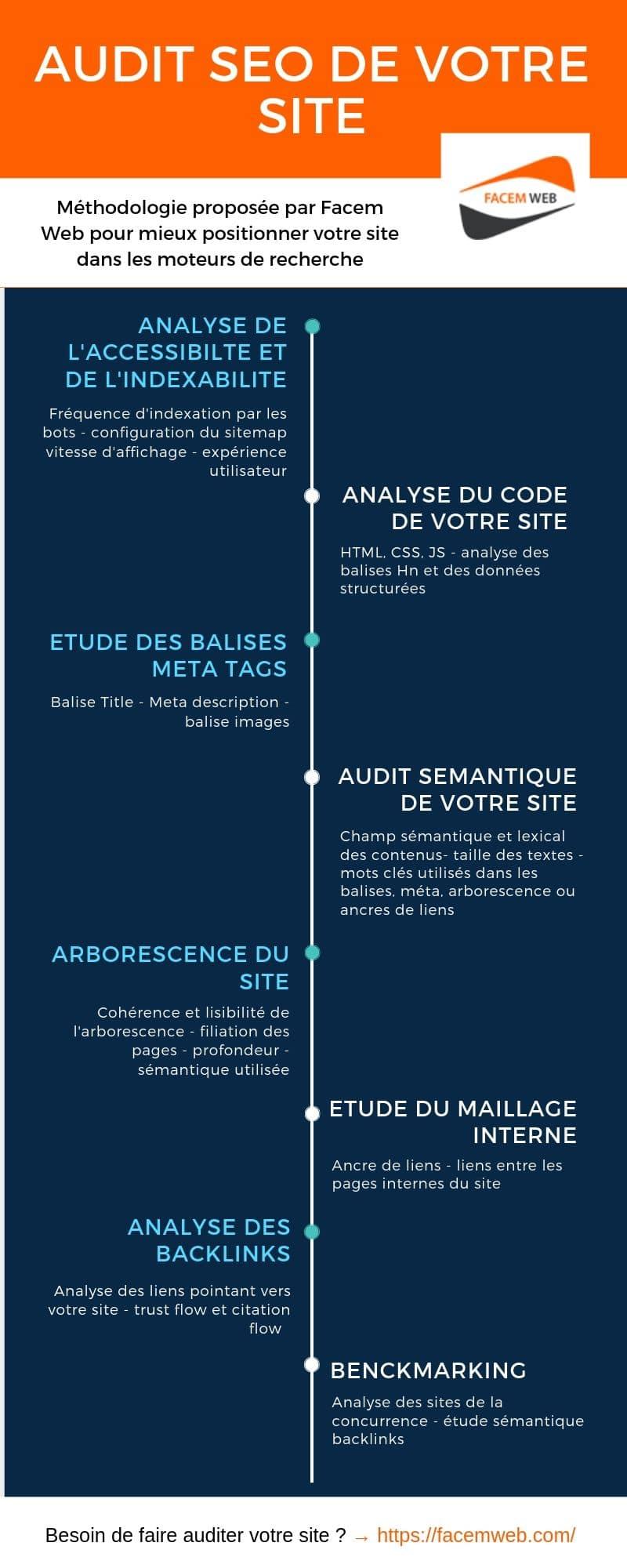 résumé audit seo en infographie