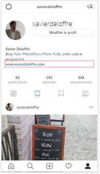 rafraichir via f5 pour voir le bouton de partage d'instagram sur pc