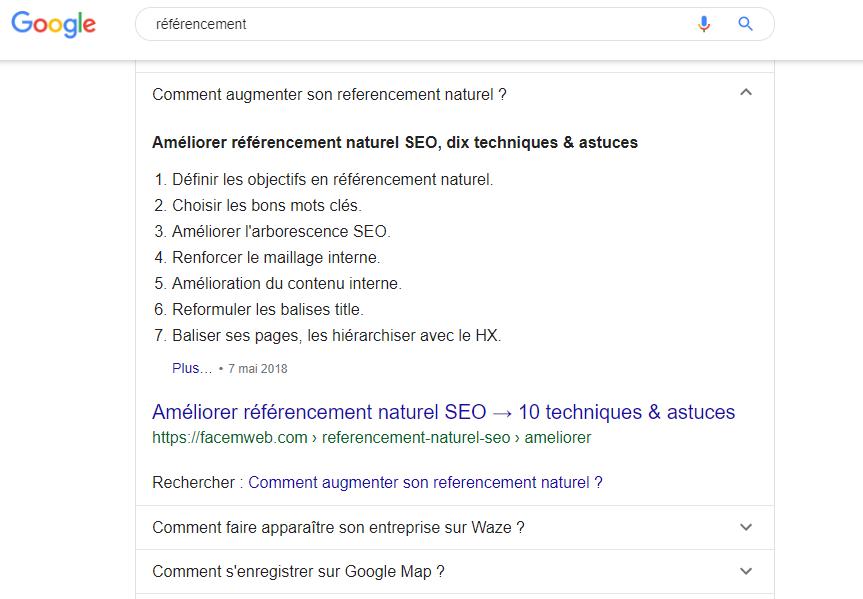exemples de questions ppa google