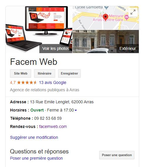 exemple de google my business